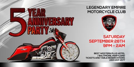 Legendary Empire MC - 5th Anniversary Party tickets