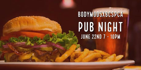 Pints for Paws: A BODYMODSxBCSPCA Pub Night tickets