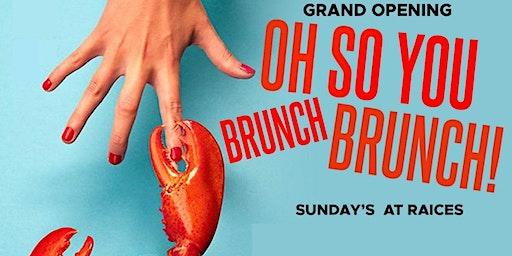 OH! SO YOU BRUNCH BRUNCH?! SUNDAYS