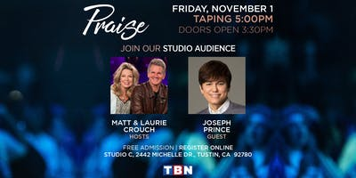 CA - Live Studio Audience – Joseph Prince with Matt & Laurie Crouch