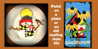 Paint a Maryland design on a paint or an old roofing slate.