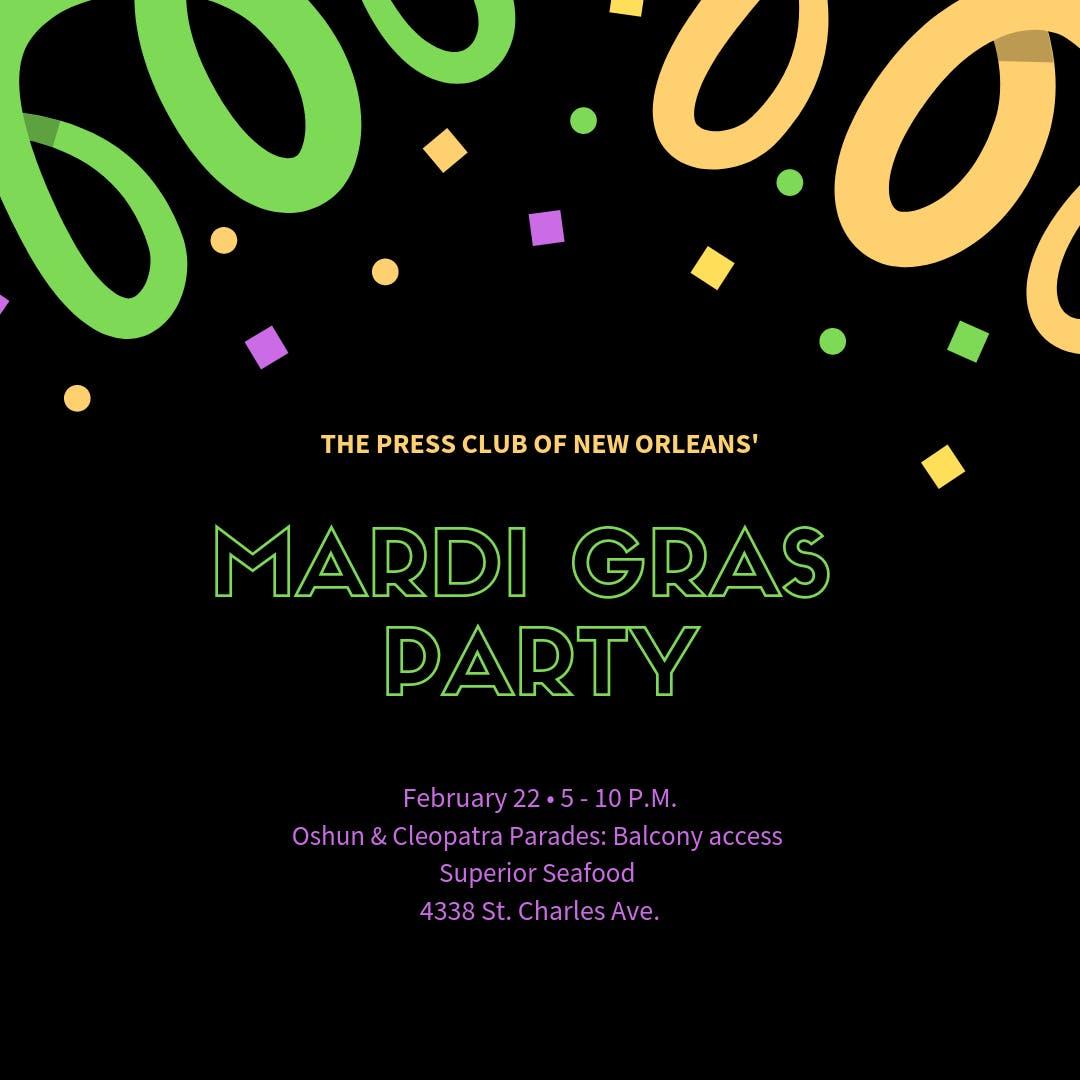 Press Club of New Orleans Mardi Gras Mixer