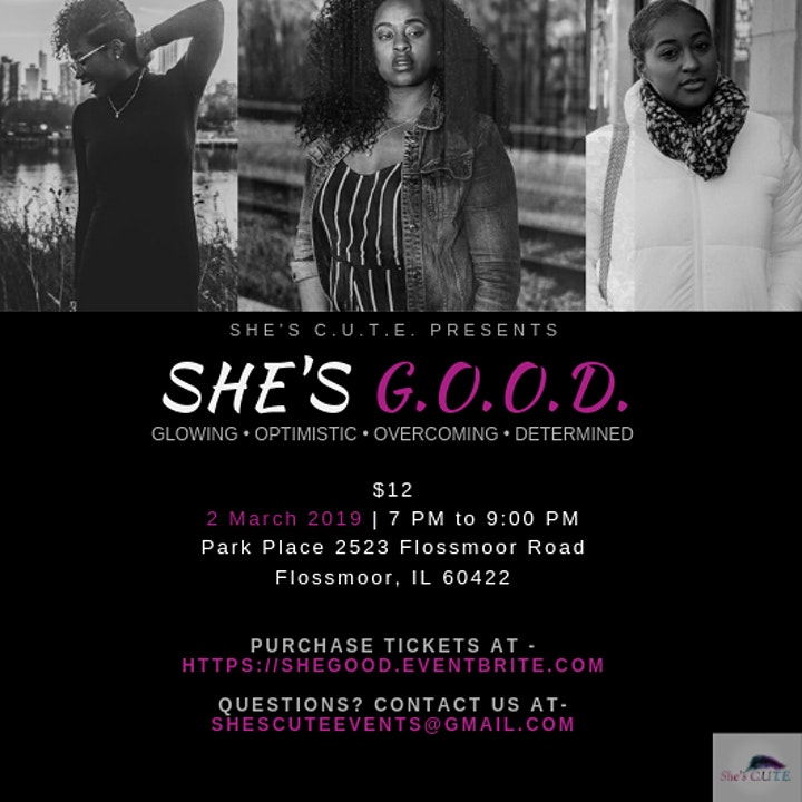 "She's C.u.t.e ""CUTE Wellness"" event entitled She's G.O.O.D image"