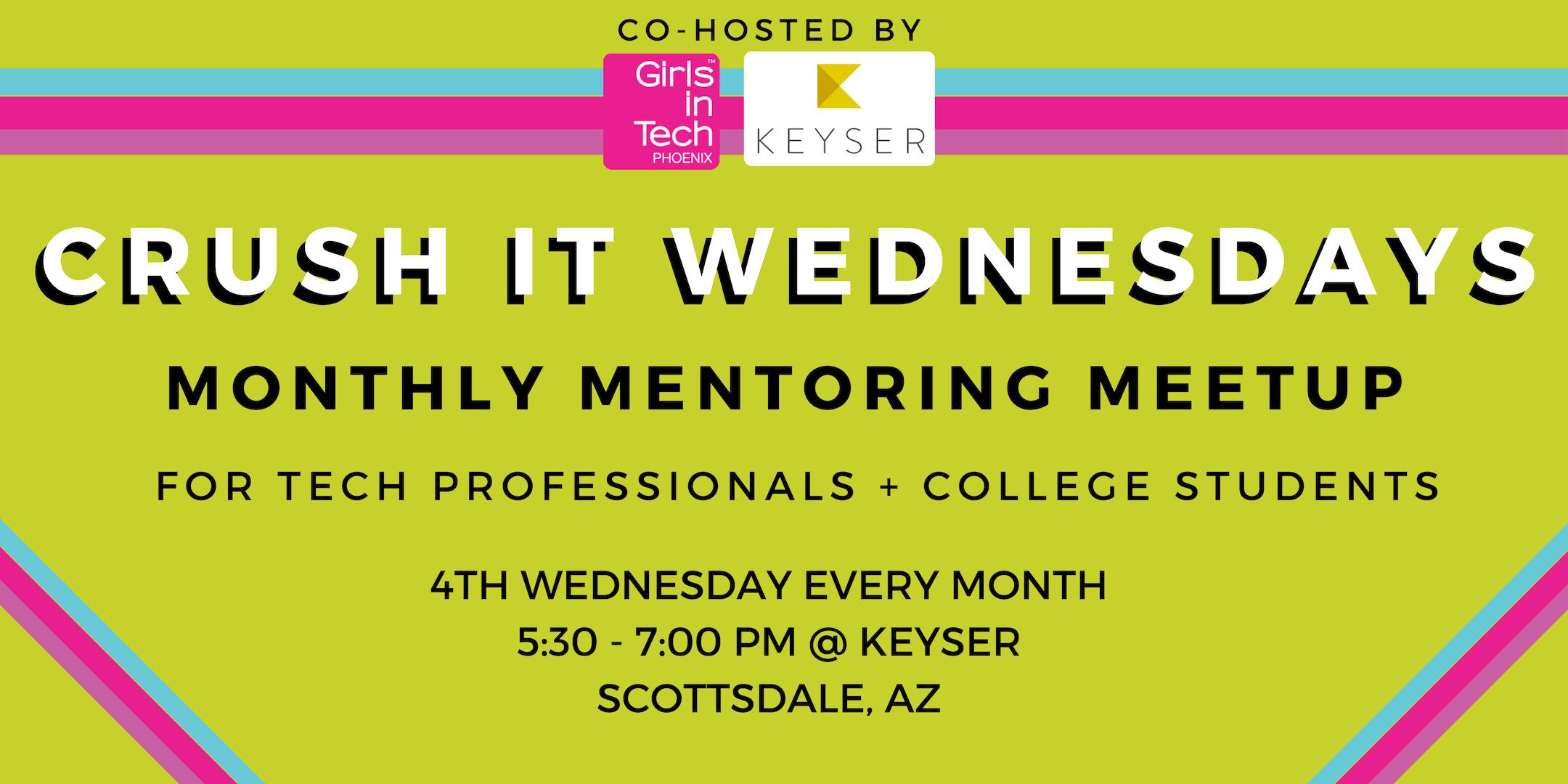 Girls in Tech Phoenix Monthly Mentoring Meetups