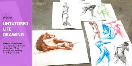 Untutored Life Drawing @Brisbane Painting Classes tickets