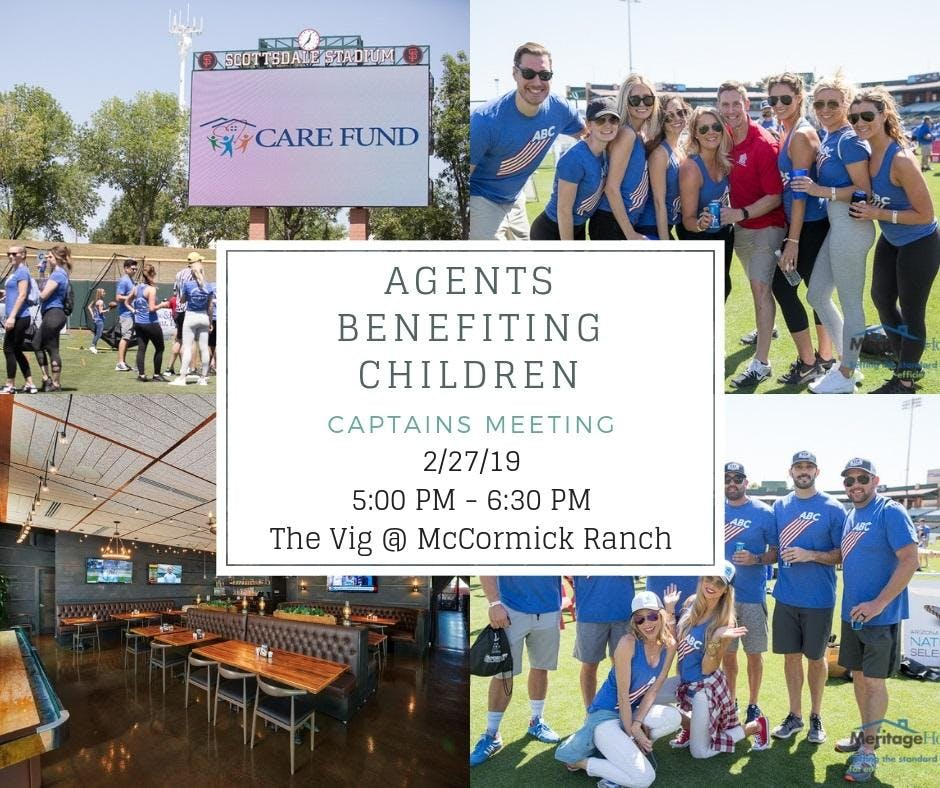 Agents Benefiting Children - Captains Meeting