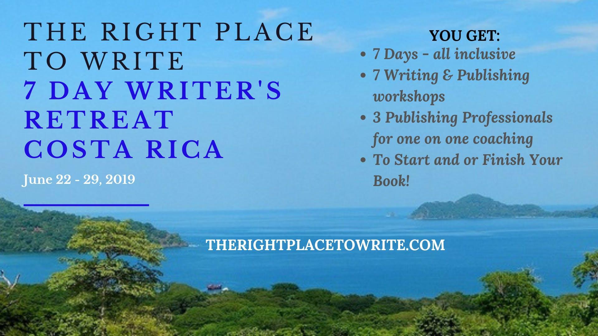 Apply for Free - Writer's Retreat June 2019 Costa Rica