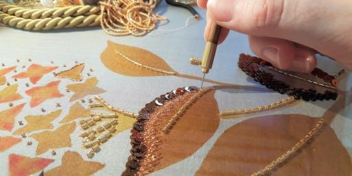Vierdaagse master zijdeschilderen & Haute couture borduren 'Broderie d'art'