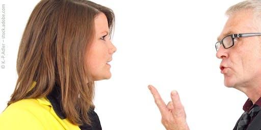 Richtiger Umgang mit schwierigen Menschen und unangenehmen Gesprächssituat.