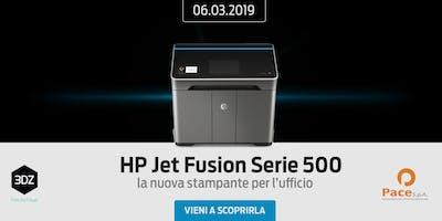 HP Multi Jet Fusion Serie 500 – La nuova stampante 3D di HP a misura di ufficio