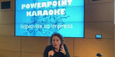 Powerpoint karaoke: presenteren kun je improviseren