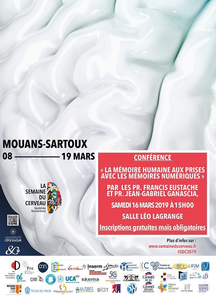 Conférence `La mémoire humaine aux prises avec les mémoires numériques`