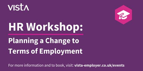 Planning a Change to Terms of Employment tickets