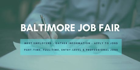 Baltimore Job Fair - October 15, 2019 Job Fairs & Hiring Events in Baltimore MD tickets