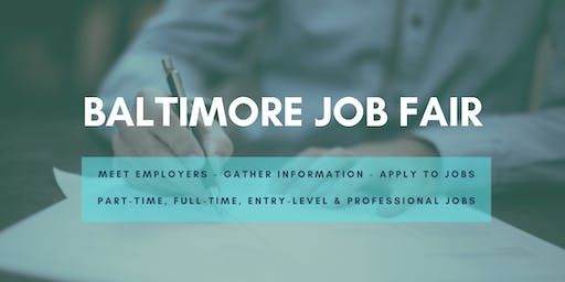 Baltimore Job Fair - October 15, 2019 Job Fairs & Hiring Events in Baltimore MD