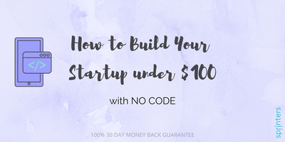 How to Build Your Startup under $100 with NO CODE