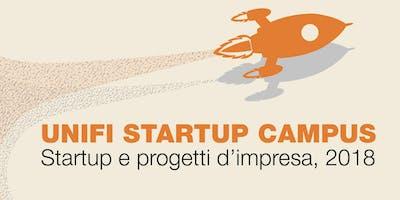 Unifi Startup Campus: startup e progetti d'impresa anno 2018