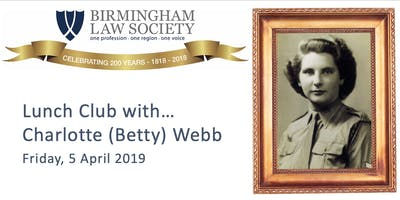 Lunch Club with Charlotte (Betty) Webb