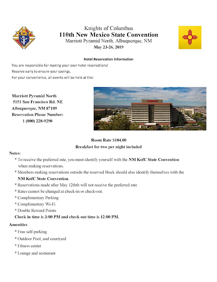 110th NM State Council Convention 2019 image