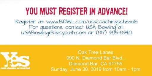 FREE USA Bowling Coach Certification Seminar - Oak Tree Lanes, Diamond Bar, CA