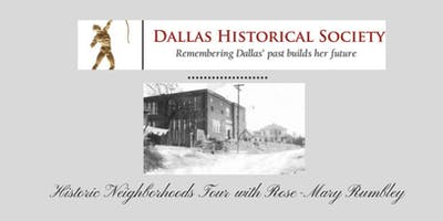 Historic Neighborhoods Tour with Rose-Mary Rumbley