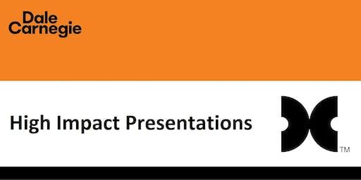 High Impact Presentations (Course Runs 2 Consecutive Days)