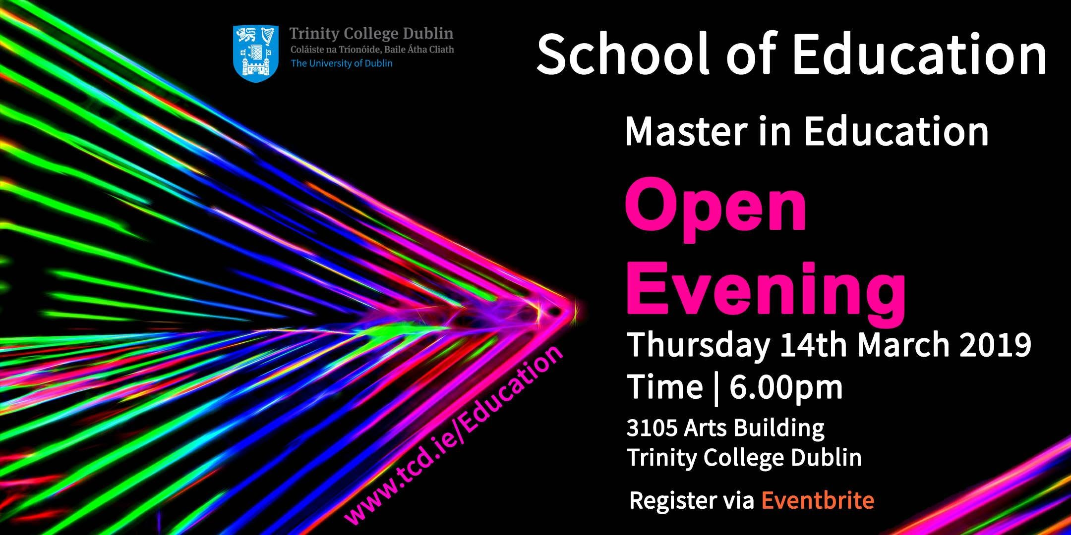 Master in Education Open Evening