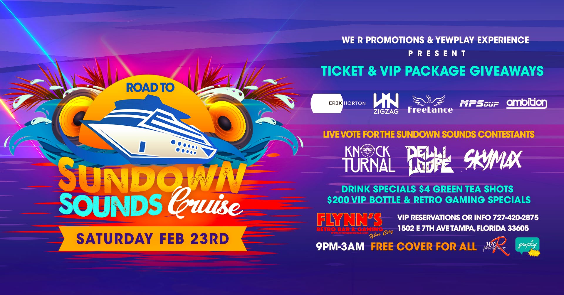 Road to Sundown sounds cruise FREE event with