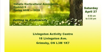 Ontario Horticultural Association District 9 - Spring AGM 2019