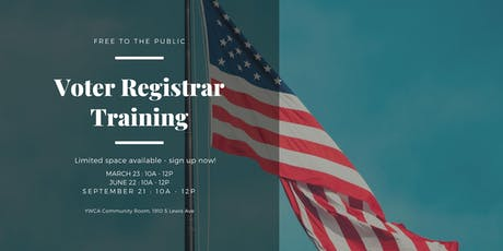Quarterly Voter Registrar Training tickets