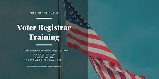 Quarterly Voter Registrar Training