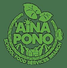 'Aina Pono School Food Services Branch logo