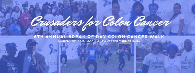 6th Annual 5k Break Of Day Colorectal Walk To Defeat Colon Cancer 2 Mar 2019