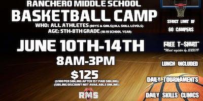 2019 RMS Summer Basketball Camp