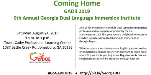 6th Annual Georgia Dual Language Immersion Institute