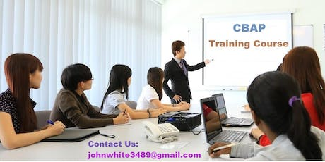 CBAP Classroom Training Course in Knoxville, PA tickets