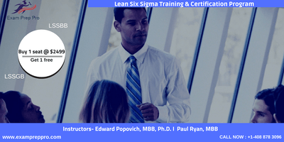 Lean Six Sigma Green Belt(LSSGB)- 4 days Classroom Training In Milwaukee,WI