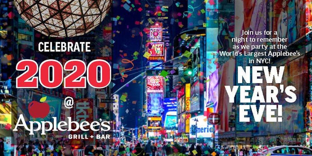 Times Square New Years Eve 2020 The BEST New Years Eve 2020 Party at Applebee's in the Heart of