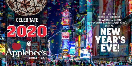 The BEST 2020 New Year's Eve Party at the LARGEST Applebee's in the Heart of NYC (50th & Broadway)
