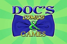 Doc's Comics & Games logo