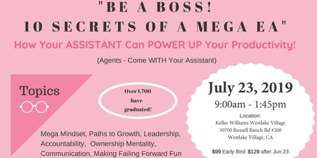 Be A Boss! 10 Secrets of a Mega EA! tickets