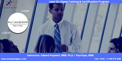Lean Six Sigma Green Belt(LSSGB)- 4 days Classroom Training In Chattanooga, TN