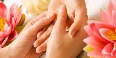 Aromatouch hand massage pamper with Do Terra essential oils