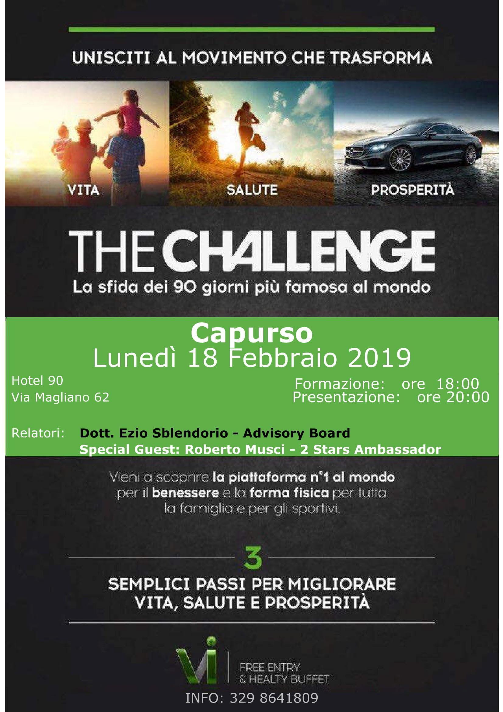 THE CHALLENGE - Capurso