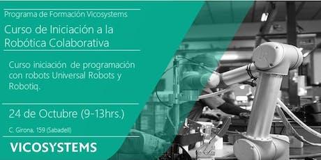 Curso de Iniciación a la Robótica Colaborativa 24.10.2019 entradas