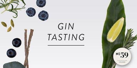 Gin Tasting Köln 27.09.2019, No59 Conceptstore Tickets