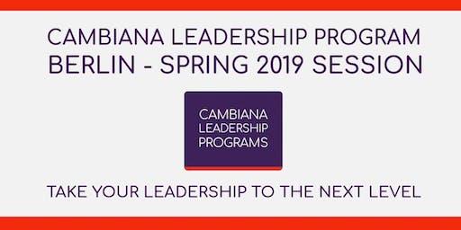 Cambiana Leadership Program - Berlin 2019