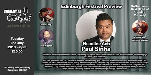 Edinburgh Preview Comedy Night with Paul Sinha