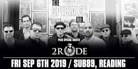 The Specials Ltd + 2Rude (Sub89, Reading) tickets