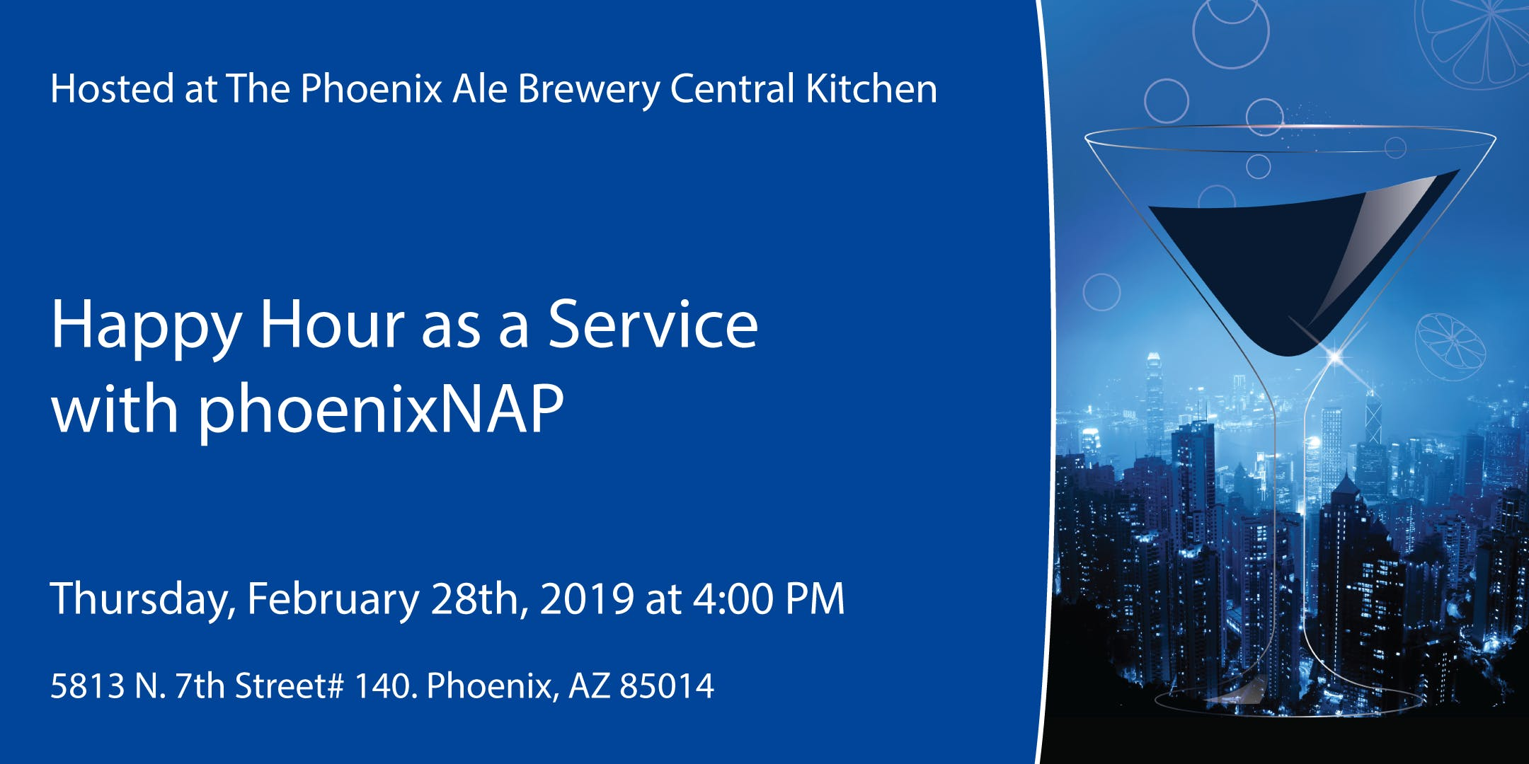 Happy Hour as a Service with phoenixNAP